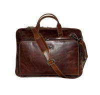 100% Leather Laptop Bag with adjustable shoulder strap