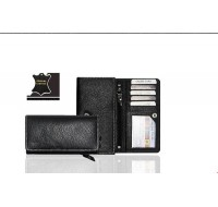 Ladies Accordion Wallet in Genuine Leather - personalized