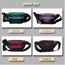 Multi Color Zippers Money Belt - personalized
